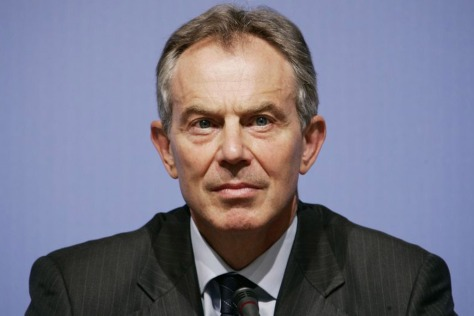 The spectre of Catholic Tony Blair a Mason and a Knight of Columbus like Felipe Canderon has never loomed larger - Photograph by - The London Evening Standard